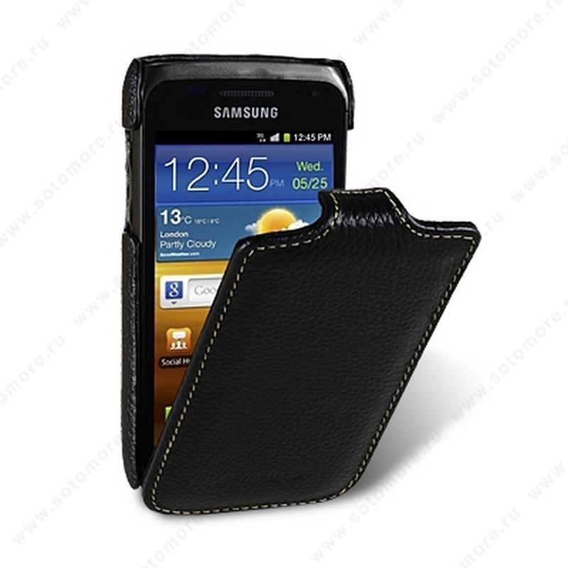 Чехол-флип Melkco для Samsung Galaxy W i8150 Leather Case Jacka Type (Black LC)