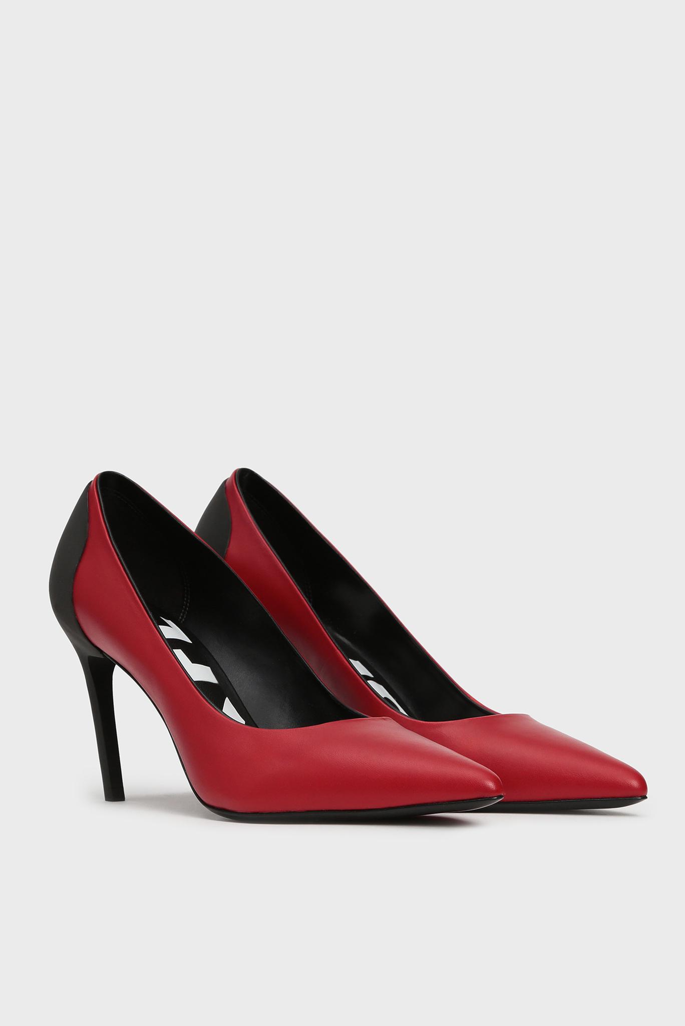 Женские красные кожаные лодочки SLANTY Diesel