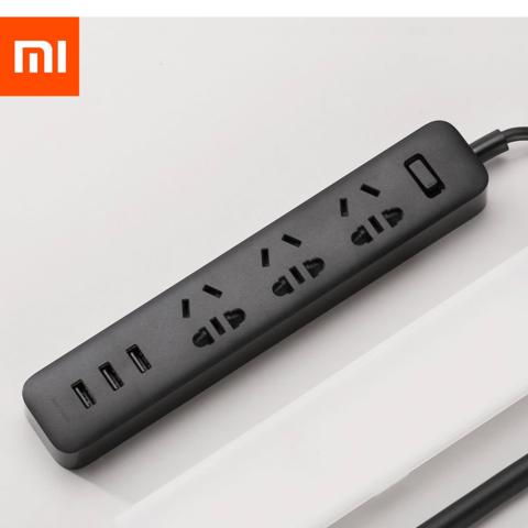 Удлинитель Xiaomi Mi Power Strip (3 розетки+3 USB, черный)