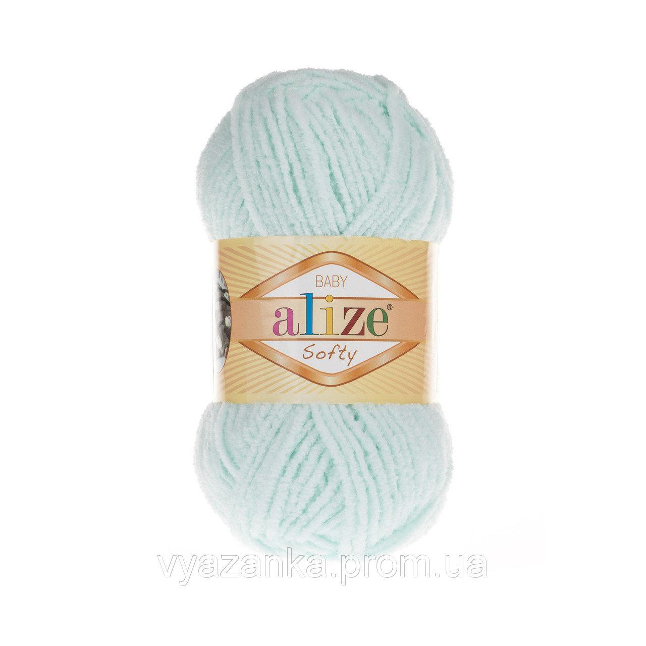 Пряжа Alize Softy светлая мята 15