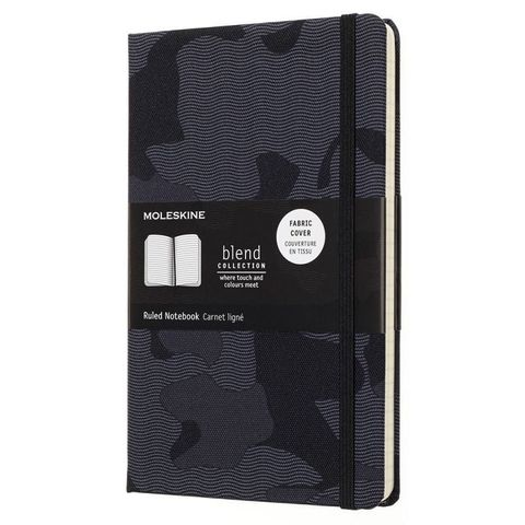Блокнот Moleskine Limited Edition BLEND LGH LCBD03QP060CAMOA Large 130х210мм обложка текстиль 240стр. линейка Camouflage black