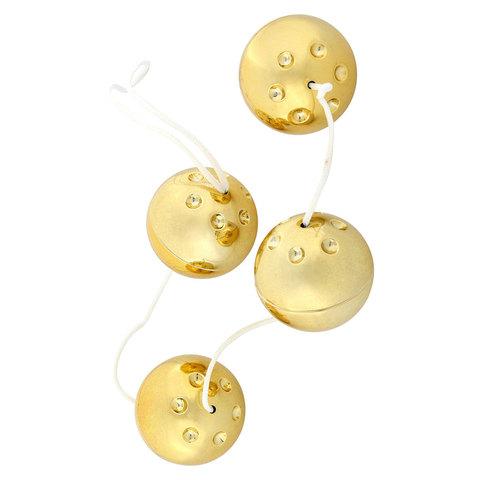 Четыре золотистых вагинальных шарика - Seven Creations 7344QG BX GP