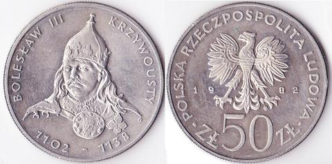 Польша 50 злотых 1982 Болеслав III