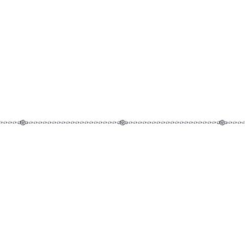 94050509-Браслет из серебра на ногу с фианитами