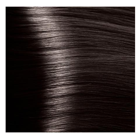 Крем краска для волос с гиалуроновой кислотой Kapous, 100 мл - HY 3.0 темно коричневый