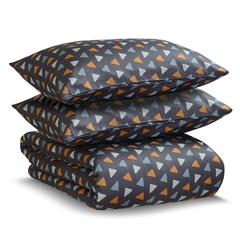Постельное белье 1.5 спальное Tkano Wild сатин мятное с принтом Triangles