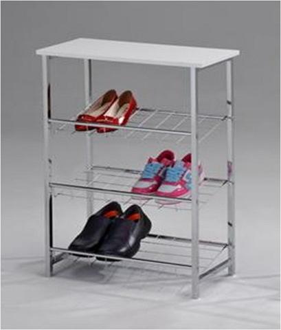 Стеллаж для обуви A1247W металлический хром