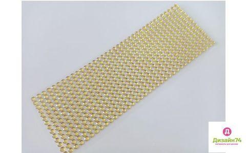 Стикеры для творчества 6 мм, цвет Золото, стекло