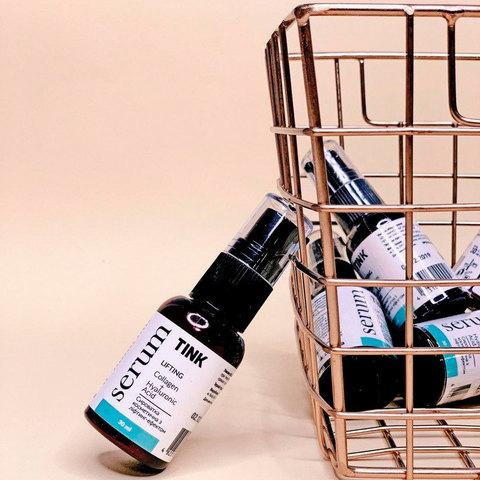 Сыворотка для лица с лифтинг-эффектом с коллагеном, гиалуроном и CO2-экстрактом кофейных зёрен Lifting Serum Tink 30 мл (2)