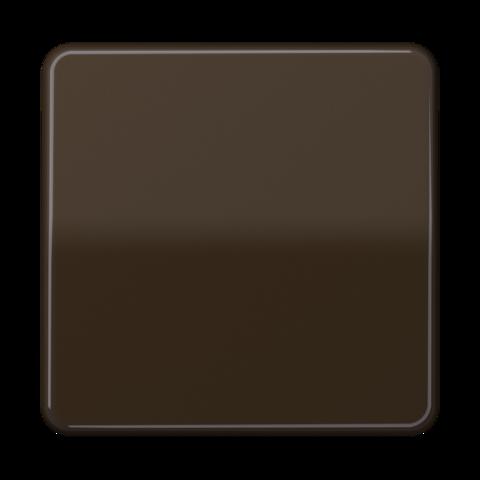 Выключатель одноклавишный. 10 A / 250 B ~. Цвет Блестящий коричневый. JUNG CD. 501U+CD590BFBR