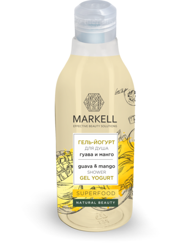 Markell Superfood Гель-йогурт для душа Гуава и Манго 380мл