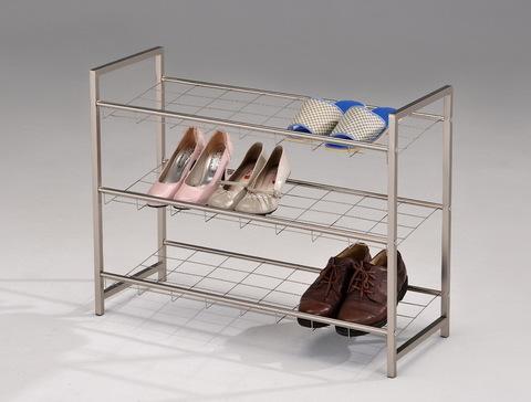 Стеллаж для обуви А1245 металлический хром