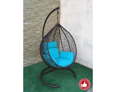 Плетеное кресло Арриба коричневое