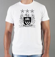 Футболка с принтом FC Manchester City (ФК Манчестер Сити) белая 009