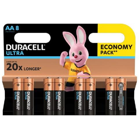 Батарейки Duracell Ultra пальчиковые AA LR6 (8 штук в упаковке)