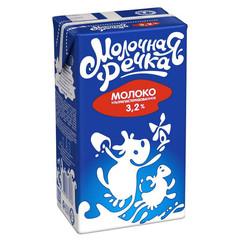 Молоко Молочная Речка ультрапастеризованное 3.2% 973 г