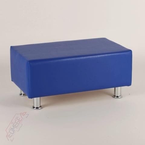Пф-102 Пуфик прямоугольный для магазина (синий)