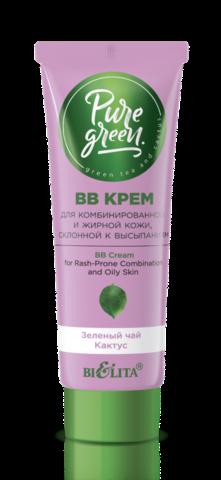 Белита PURE GREEN ВВ крем для комбинированной и жирной кожи, склонной к высыпаниям 30мл