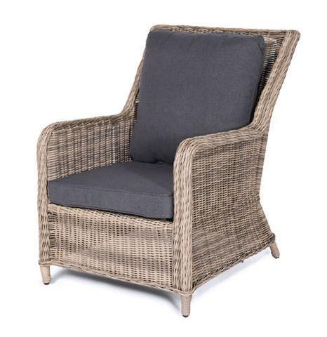 Кресло из искусственного ротанга, цвета соломы