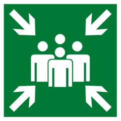 Е21 Эвакуационный знак – Пункт (место) сбора