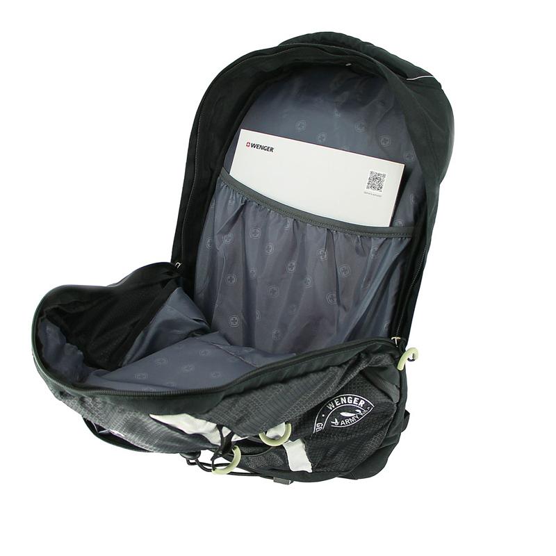 Рюкзак WENGER для активного отдыха, цвет чёрный/сёрый, 47x28x19 см, 25 л. (30532499) - Wenger-Victorinox.Ru
