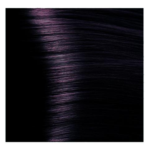 Крем краска для волос с гиалуроновой кислотой Kapous, 100 мл - HY 1.2  Черный фиолетовый