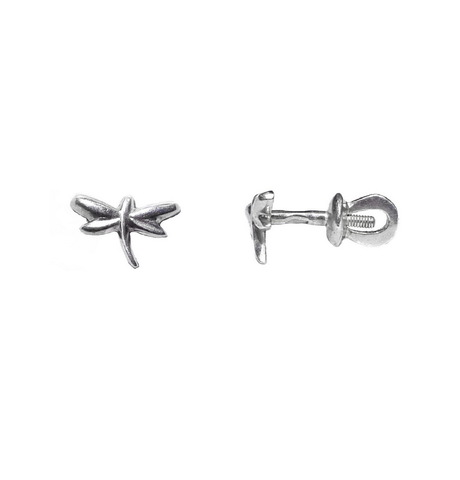 Dragonfly studs Earrings, Sterling Silver
