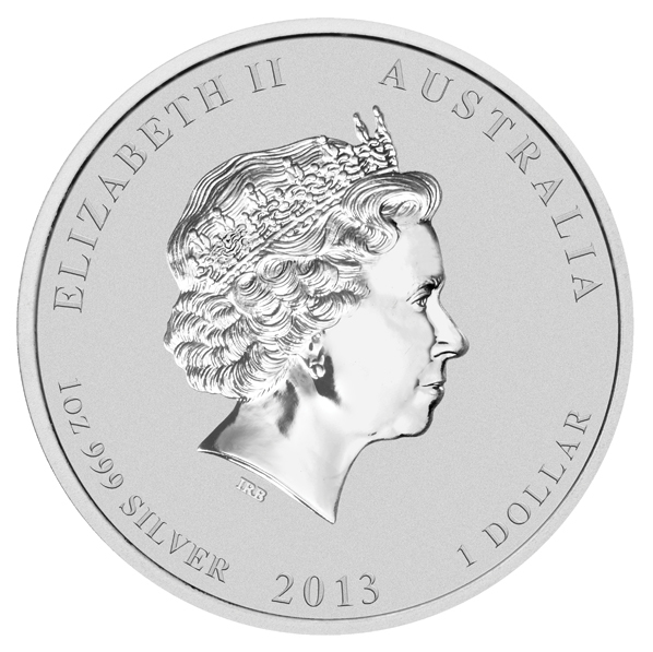 1 доллар. Год Змеи. Австралия. 2013 год