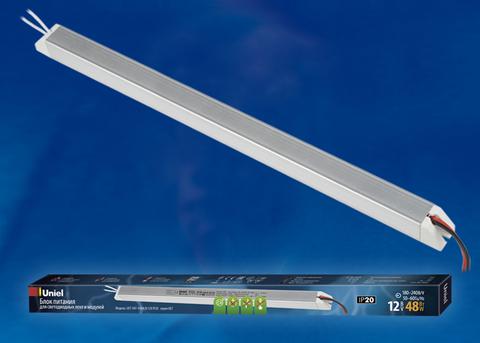 UET-VAT-048A20 12V IP20 Блок питания ультратонкий, 48Вт. Металлический корпус. TM Uniel