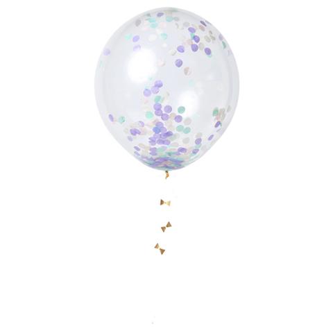 Воздушные шары с конфетти, пастель