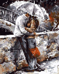 Алмазная Мозаика 40x50 Поцелуй у моста