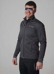 Утеплённая лыжная куртка Nordski Motion Graphite/Black мужская