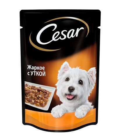 Cesar пауч для взрослых собак всех пород (с уткой) 100 г
