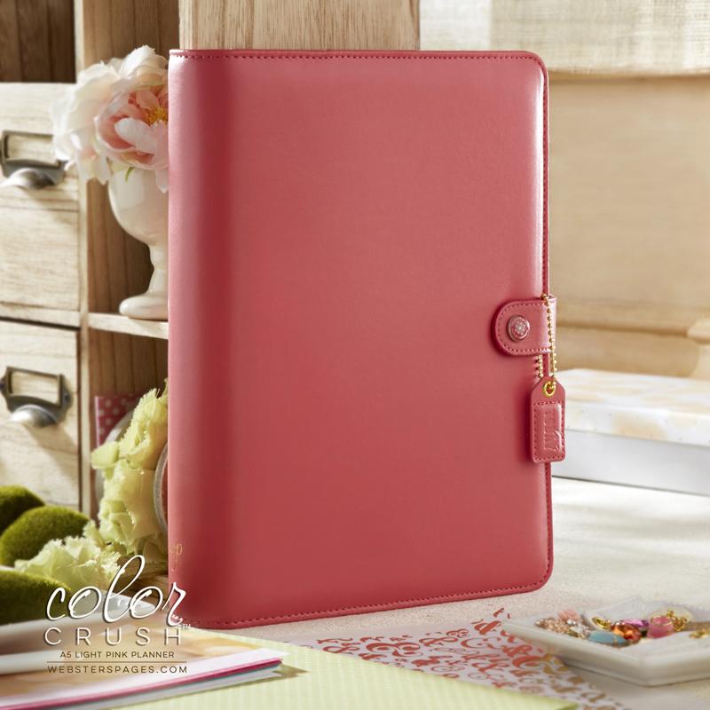 Планер с наполнением. Не датирован.  PLANNER KIT A5: Light Pink by Websters Pages.