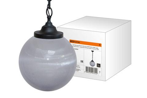 Светильник НСБ 02-60-252 УХЛ4 60 Вт, IP40, шар прозрачный с огранкой 250 мм, цепь черная TDM
