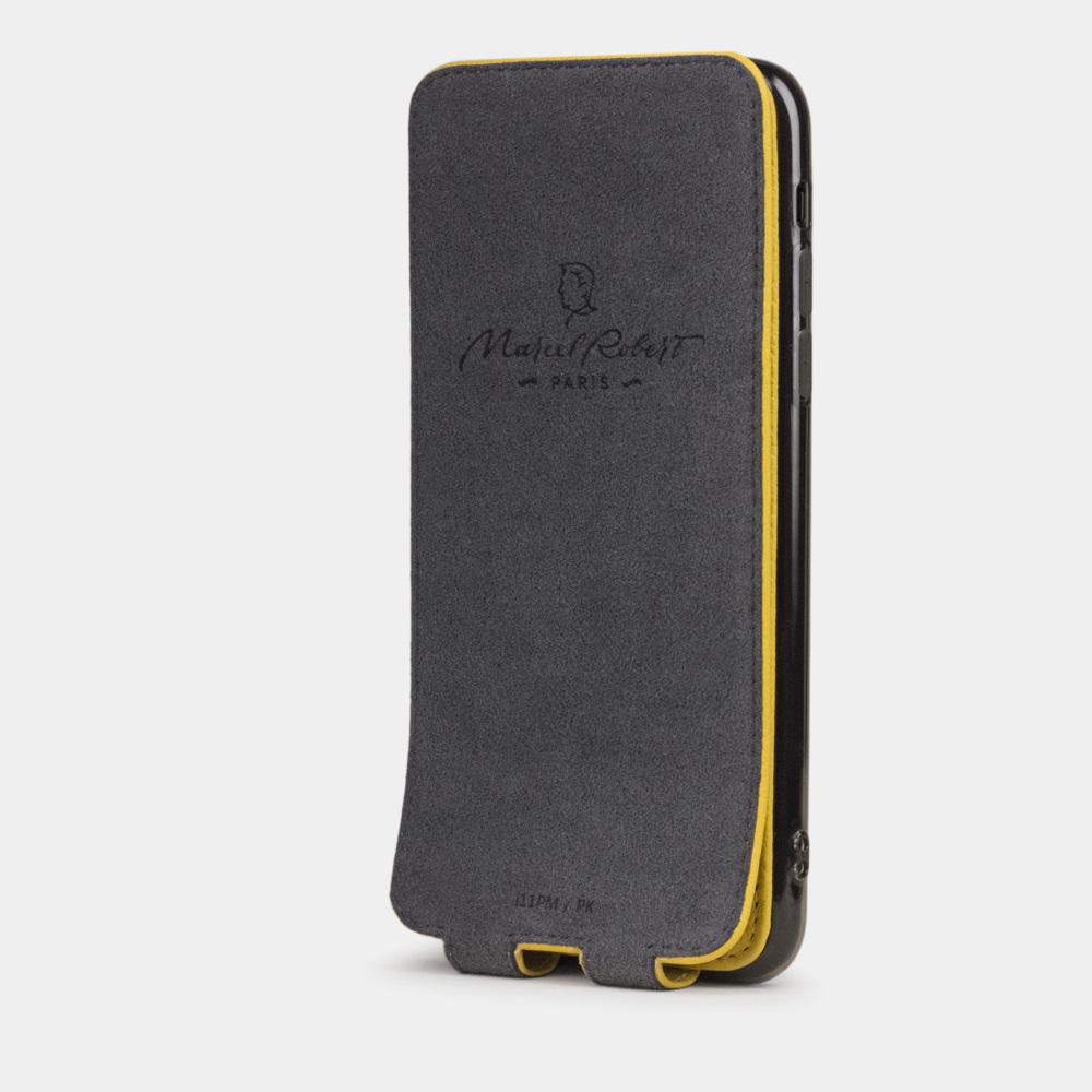 Чехол для iPhone 11 Pro из натуральной кожи теленка, желтого цвета