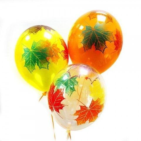 Воздушные шары Кристалл кленовый лист