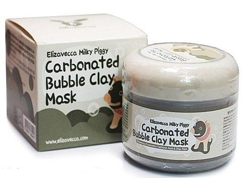 ОЧИЩАЮЩАЯ ГЛИНЯННО-ПУЗЫРЬКОВАЯ МАСКА ДЛЯ ЛИЦА ELIZAVECCA Carbonate Bubble Clay Mask