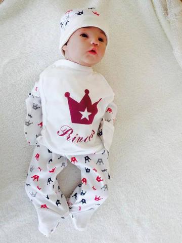Комплект Princess + колпачок (кремовый/красный)