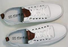Летние дышащие кроссовки для повседневной ходьбы мужские белые Faber 193909-3 White.