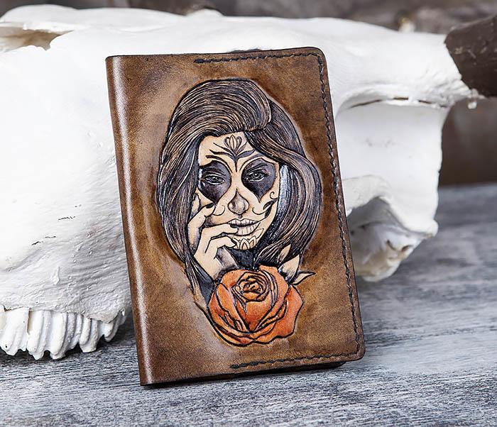 BC169 Обложка в стиле мексиканского Дня Мертвых, ручная работа