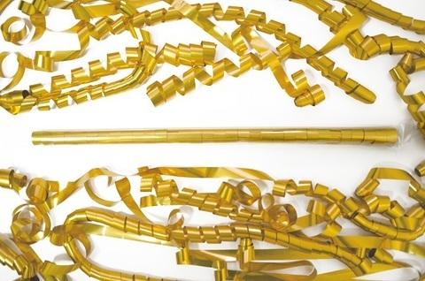 Металлизированный серпантин золото