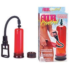 Вакуумная помпа с двумя сменными насадками NEW STAY HARD PUMP CLEAR RED -