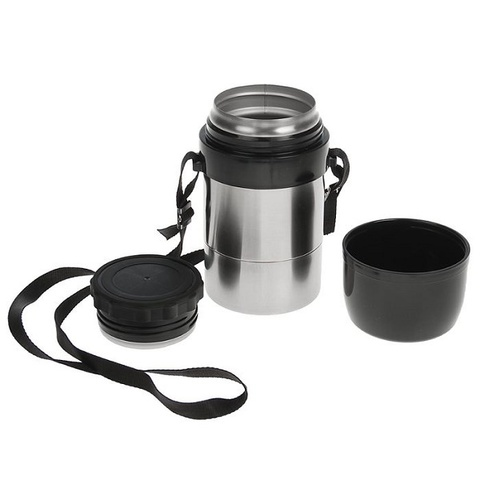 Термос для еды Амет DS Дорожный (1,5 литра) с широким горлом, на ремне