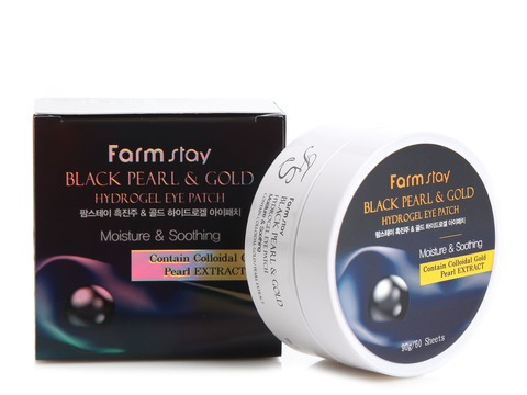Гидрогелевые патчи FarmStay Black Pearl & Gold Hydrogel Eye Patch