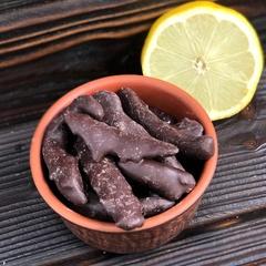Лимонная корочка в темном шоколаде, 250 г