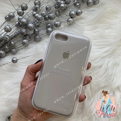 Чехол iPhone 7/8 Silicone Case /stone/ светло-серый 1:1