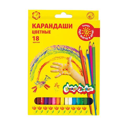 Карандаши цветные Каляка-Маляка (18 цветов), ККМ18