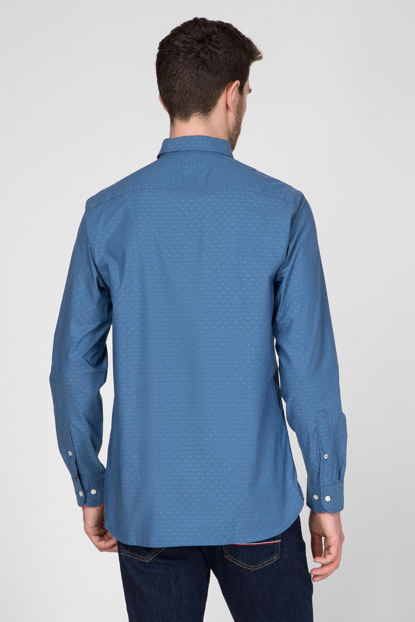 Мужская голубая рубашка FLEX INDIGO FEEL DOBBY Tommy Hilfiger