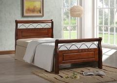Кровать Нина 200x90 (Nina MK-5231-RO) Темная вишня